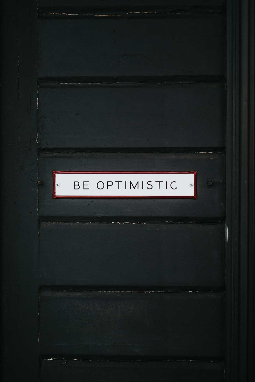 Be optimistic - Coaching